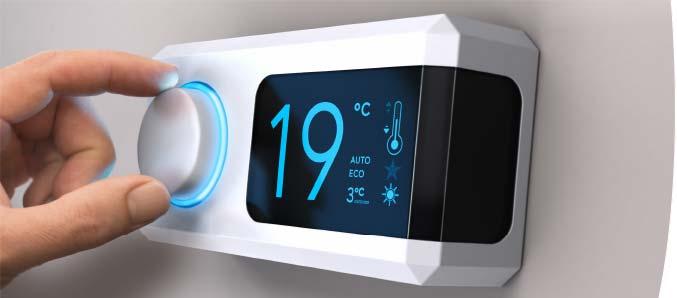 Thermostat regeln für eine optimale Zimmertemperatur.