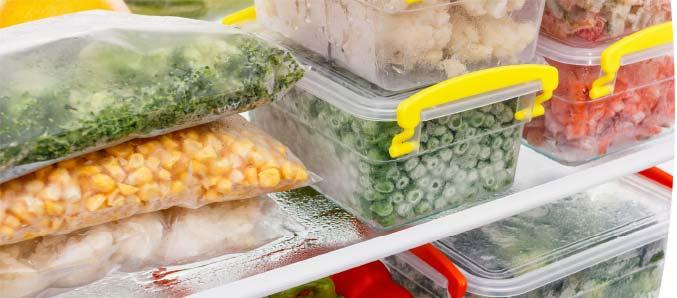 Gemüse im Tiefkühlfach.