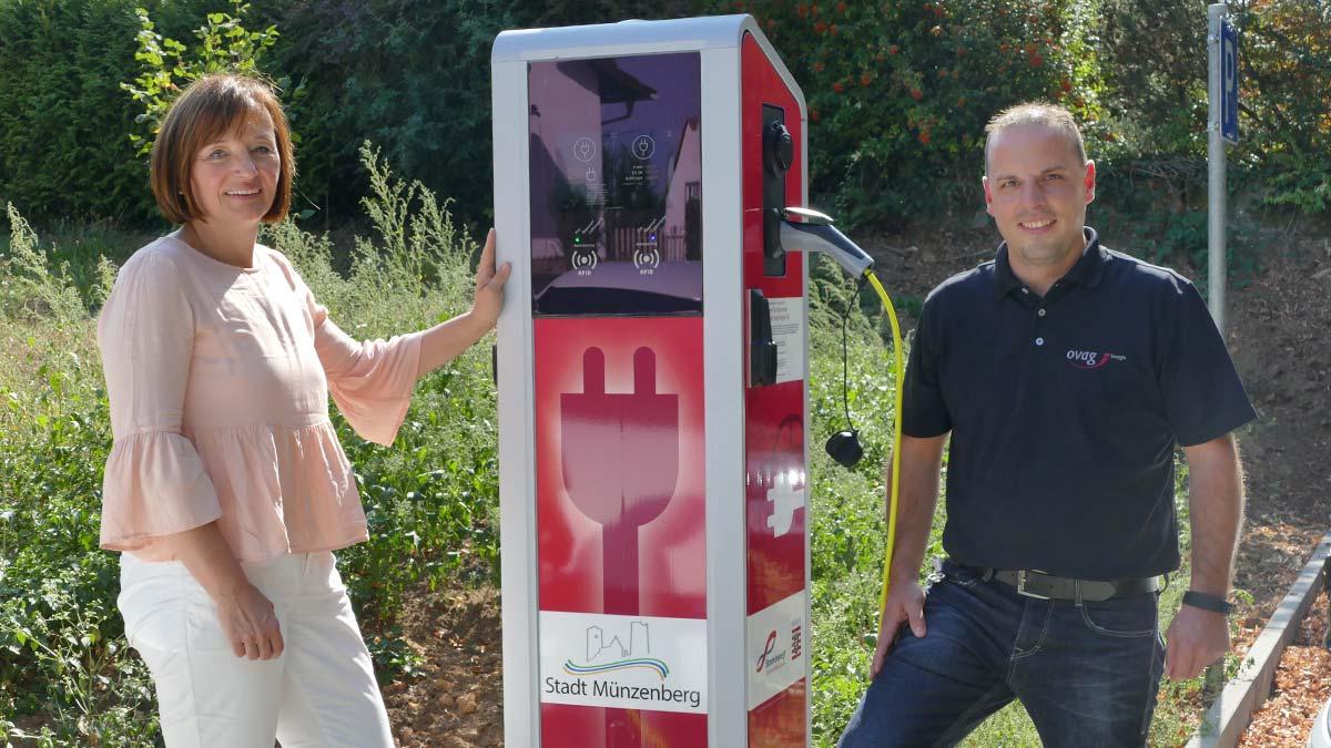 Neue Ladesäule für Elektroautos in Münzenberg