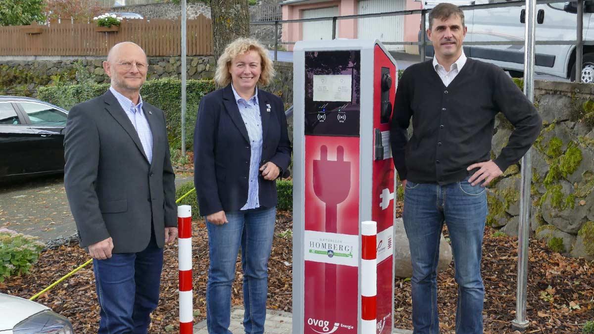 Ladesäule für Elektroautos in Homberg