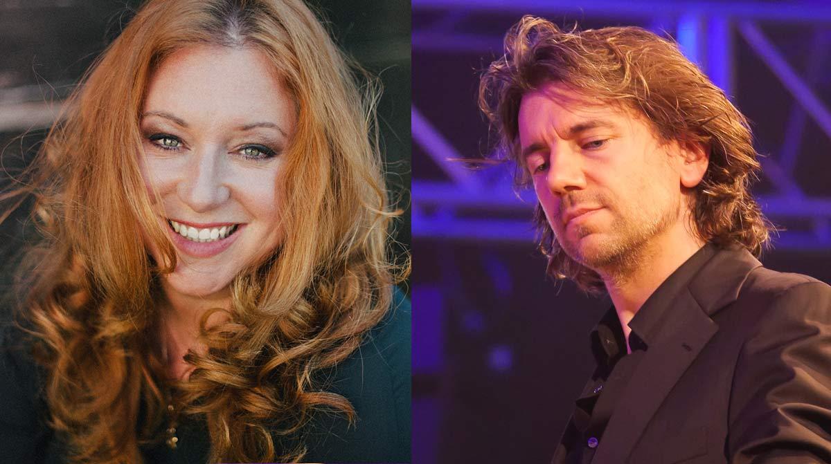 Dirigent Jens Troester und Schauspielerin Rebecca Siemoneit-Barum.