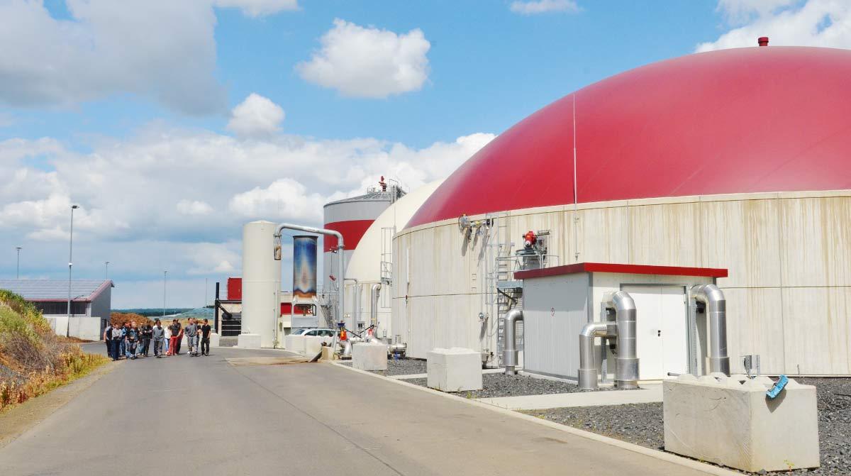 Biogasanlage der OVAG in Wölfersheim-Berstadt.