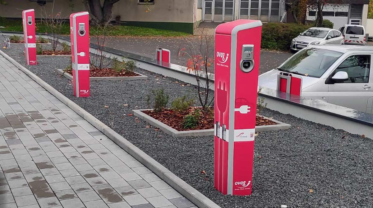 Ladestation für Elektroautos.