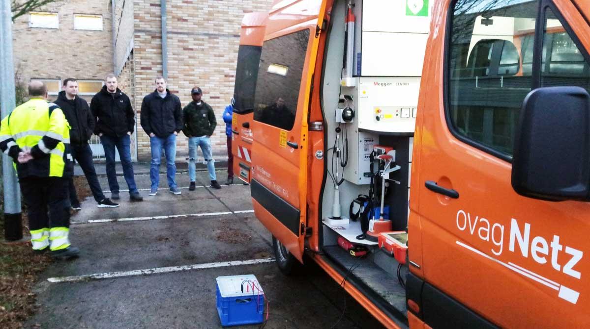 Kabelmesswagen der ovag Netz GmbH
